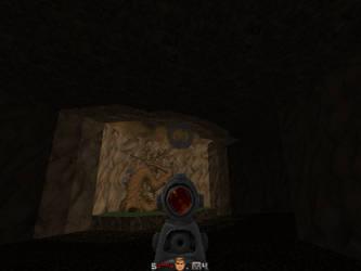 Screenshot of my first Doom map. by YoBadMama