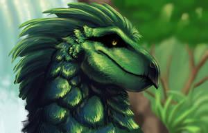 Speedpaint Peacock Forest Dragon by Medenadragon