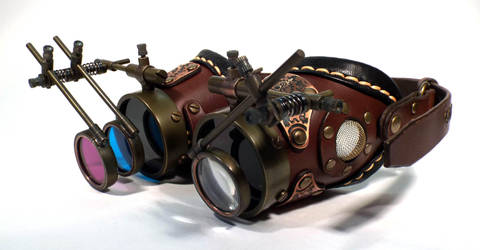 Steampunk Goggles Classic-04 by doublepgoggles