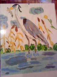 Gray Heron by Safyia