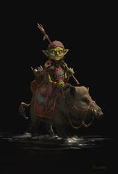 Goblin fisherman by stoudaa