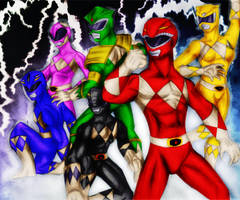 Mighty Morphin Power Rangers by bleedingmoon114
