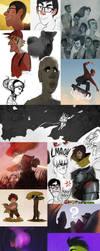 Art Dump 2015 by trisketched