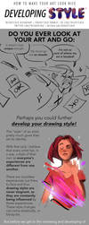 HOW TO MAKE YOUR ART LOOK NICE: Developing Style by trisketched