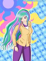 Princess Celestia Equestria Girls by ZantyARZ