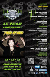 TDSK 11 Year Anniversary Flyer by AbominableInk