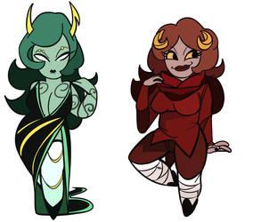 bodacious babes by Villainsgoleft