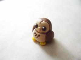 Tiny Polymer Clay Owl by Saru-Hime