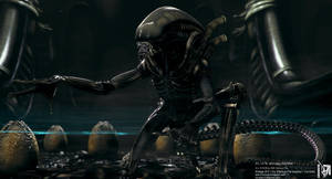 Giger ALIEN CGI  Nr. III by locusta