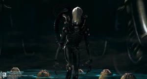 Giger ALIEN CGI Nr. VI by locusta