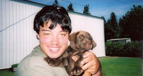 Me and my baby pup. by leepawlowicz