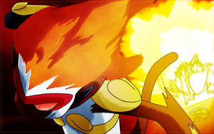 Ash' Infernape Flare Blitz by brignan