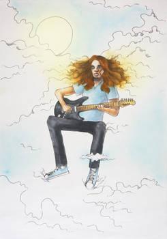 David Gilmour by Shadowwwolf