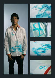 'Delft's Blauw' Shirt by Shadowwwolf