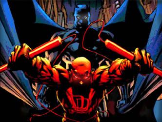 Batman Vs Daredevil by ComicMultiverse