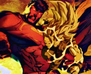 Superman vs Goku by ComicMultiverse