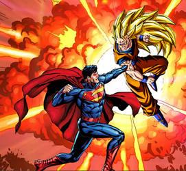 Supes Vs Goku2 by ComicMultiverse