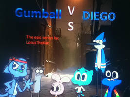 Poaster Tribute for: Gumball Vs Diego by Delta757-200