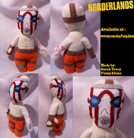 Borderlands Psycho Plush by FuzzyAliens