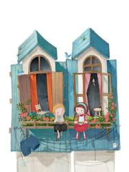 A Little Boy and a Little Girl by yangqi