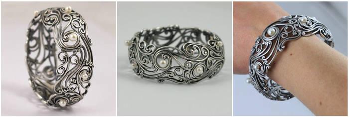 Bracelet with pearls by skladsznurowadel