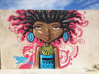 Thandi - Maboneng Mural by rayyzer