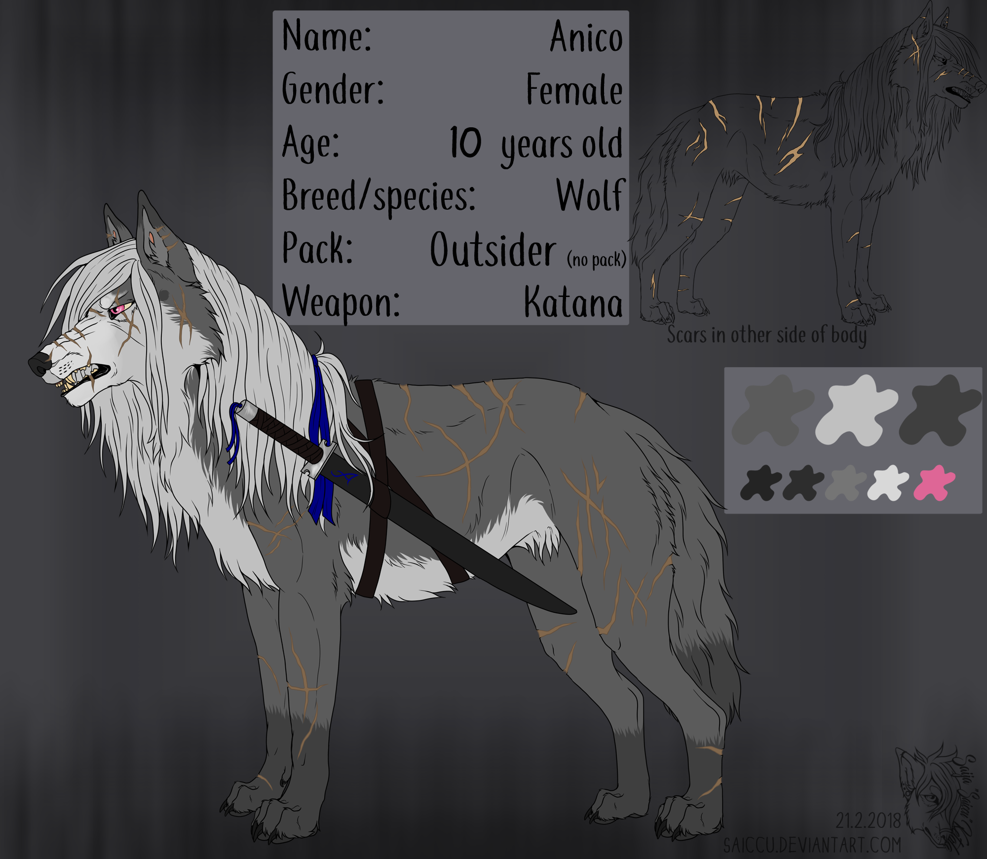 Anico .:Reference sheet:. by Saiccu