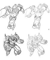 G1 Galvatron and Rodimus pin ups by beamer