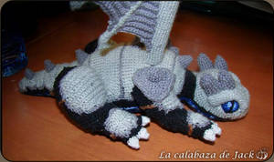 Crochet dragon with armor by cristell15