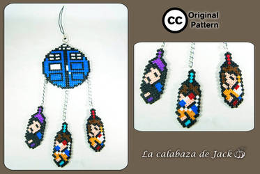 Doctor Who dream catcher (Original pattern) by cristell15