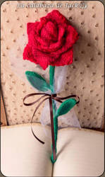 Crochet Rose by cristell15