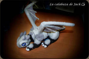 Crochet dragon with armour by cristell15