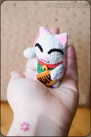 Maneki-neko Amigurumi by cristell15