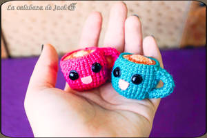 Tea cups Amigurumis by cristell15
