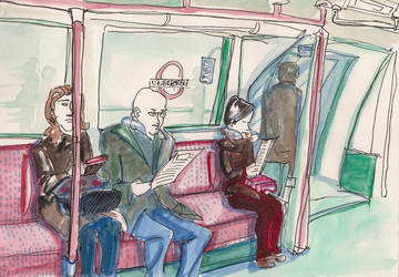 London tube sketch by SiberianLizard