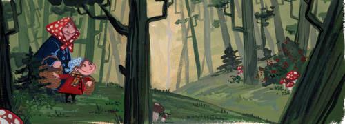 Mushroom Forest by SiberianLizard