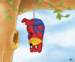 Spider-Pooh by rabbet87