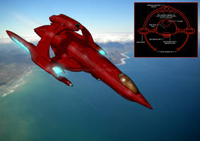 Star Trek: K'spir Vulcan Fighter Craft (+ chart) by The-Argonaut