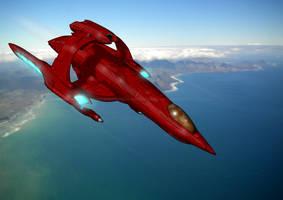 Star Trek: K'spir Vulcan Fighter Craft (no chart) by The-Argonaut
