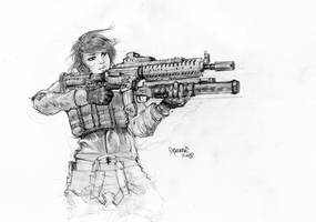 She Will Shoot You by xcanner