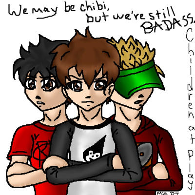 Ryan, Nate, and Chuck by miajaganshi