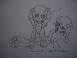 Evil Sheepies Mia and Rin by miajaganshi