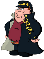 Peter Griffin Jotaro Kujo by Cudgle