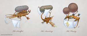 Airship Concepts by Edarneor
