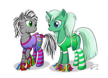 Emerald (and Akasha) the Cheerleader by wdeleon