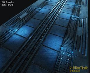 Sci-Fi Floor_Tile by Mellon3D