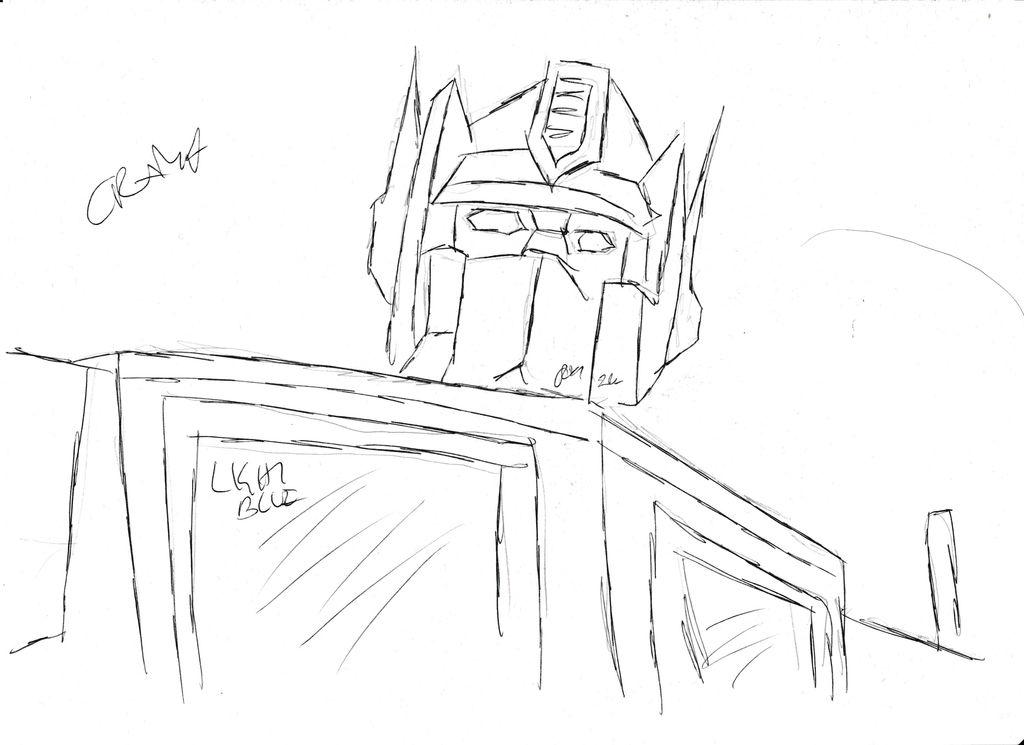 Optimus Prime Sketch by Darknlord91