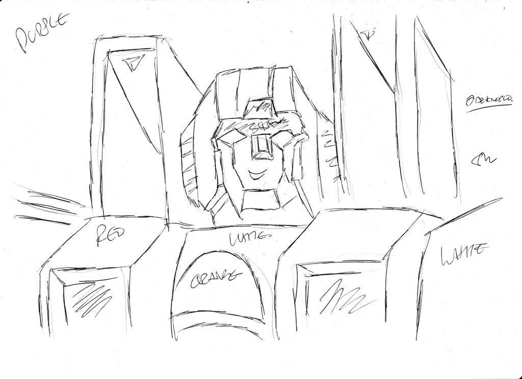 Starscream Sketch by Darknlord91