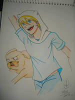 Finn and Jake - Old Draw by Jujubesca