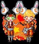 Boing chan and Hopp kun by YukiMiyasawa